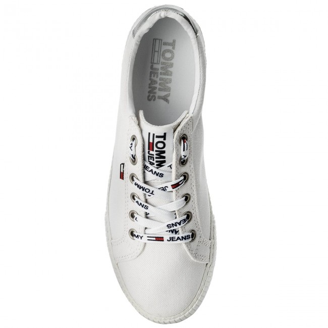 Turnschuhe TOMMY JEANS  Casual 100 TurnschuheEN0EN00125 White 100 Casual 5806ed