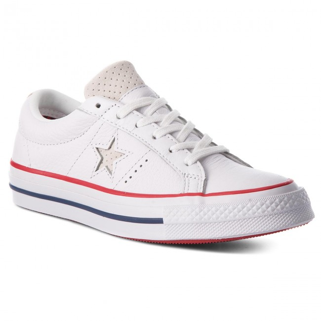 Turnschuhe CONVERSE  One Star Ox Ox Ox 160624C White/Gym Red/White cf7d19