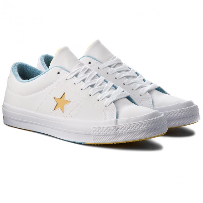 Turnschuhe CONVERSE-One Star Ox 160593C White/Mineral Yelow/Shoreline