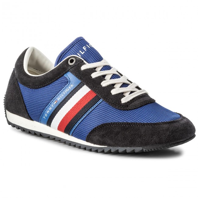 865f5fd51d811a Sneakers TOMMY HILFIGER - Corporate Material Mix Runner FM0FM01314 Monaco  Blue 408