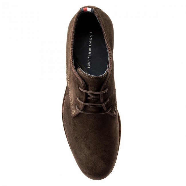 Halbschuhe TOMMY HILFIGER-Casual Up Dressy Suede Lace Up HILFIGER-Casual FM0FM00583 Coffe Bean 212 9c885e