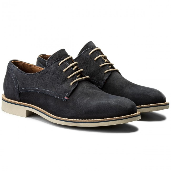 Halbschuhe TOMMY Derby HILFIGER-Seasonal Nubuck Lace Up Derby TOMMY FM0FM01251 Midnight 403 067d94