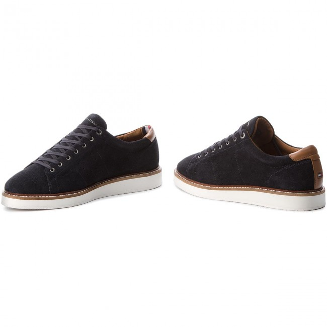 Halbschuhe TOMMY HILFIGER-Hybrid Suede Long Lace Shoe FM0FM01338 Midnight 403