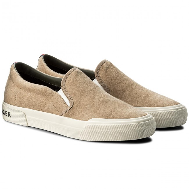 Turnschuhe TOMMY Sneaker HILFIGER-Heritage Suede Slip On Sneaker TOMMY FM0FM01355 Sand 102 ff5c6e