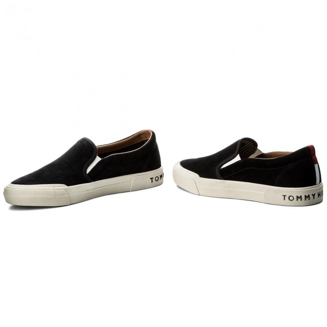 Turnschuhe TOMMY HILFIGER-Heritage Suede On Slip On Suede Sneaker FM0FM01355 Midnight 403 c687f0