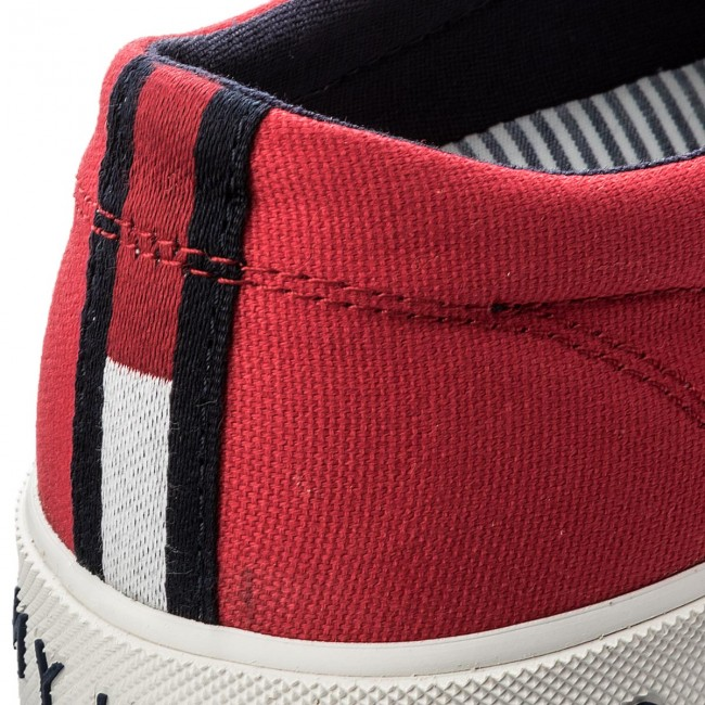 Turnschuhe TOMMY TOMMY TOMMY HILFIGER-Heritage Textile Slip On Sneaker FM0FM01359 Tango Red 611 86d54c