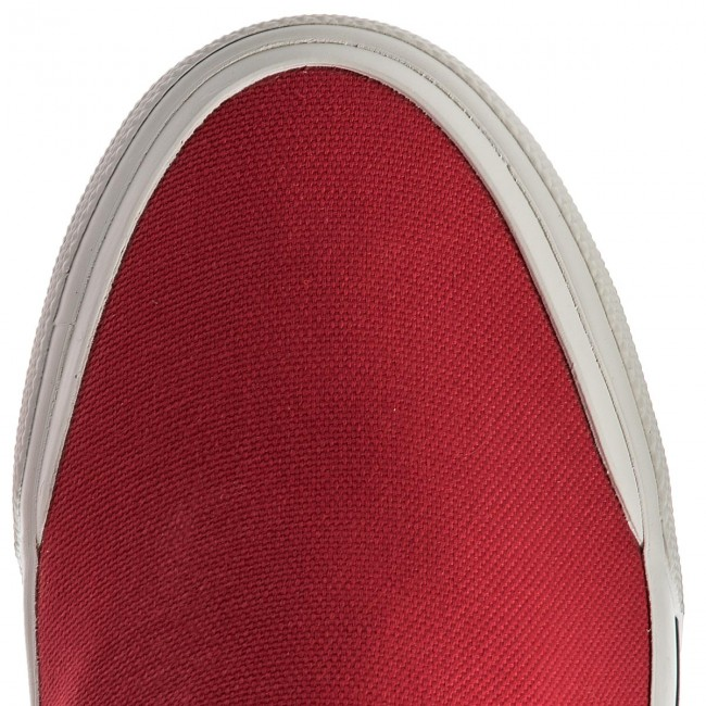 Turnschuhe On TOMMY HILFIGER-Heritage Textile Slip On Turnschuhe Sneaker FM0FM01359 Tango ROT 611 45a1d4