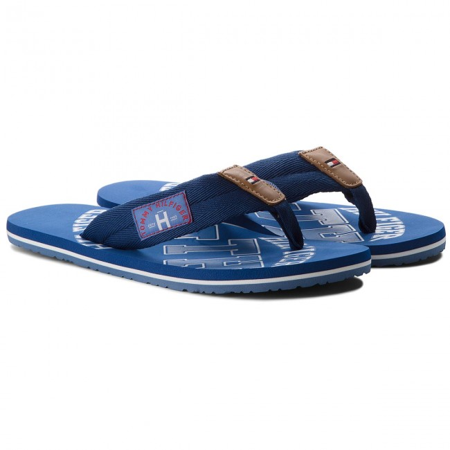 Zehentrenner TOMMY HILFIGER - Essential Th Beach Sandal FM0FM01369 Jeans 013 7v0fIx7