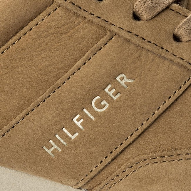 Sneakers TOMMY HILFIGER-Iconic Nubuck Nubuck Nubuck Leather Runner FM0FM01437 Sand 102 b5341a