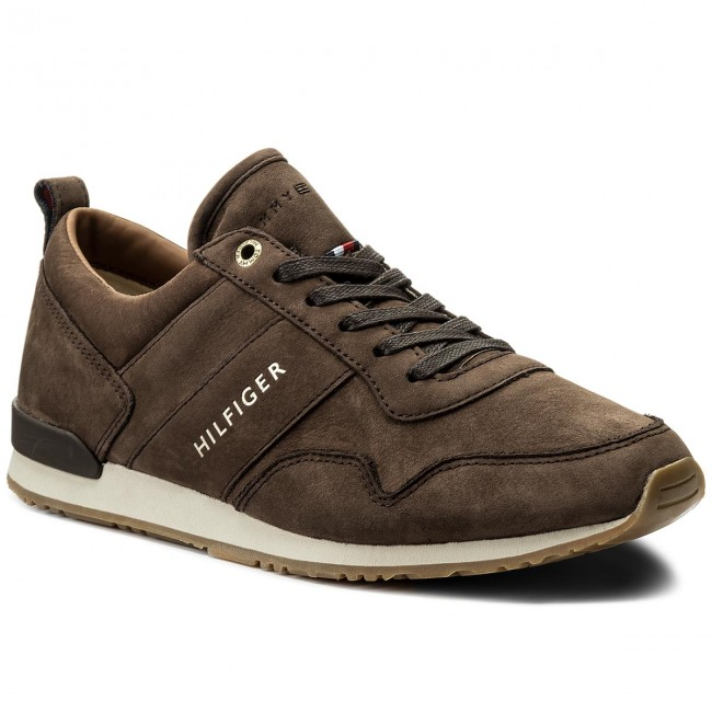 Sneakers TOMMY HILFIGER-Iconic Nubuck Leather Runner FM0FM01437 Coffee Bean 212