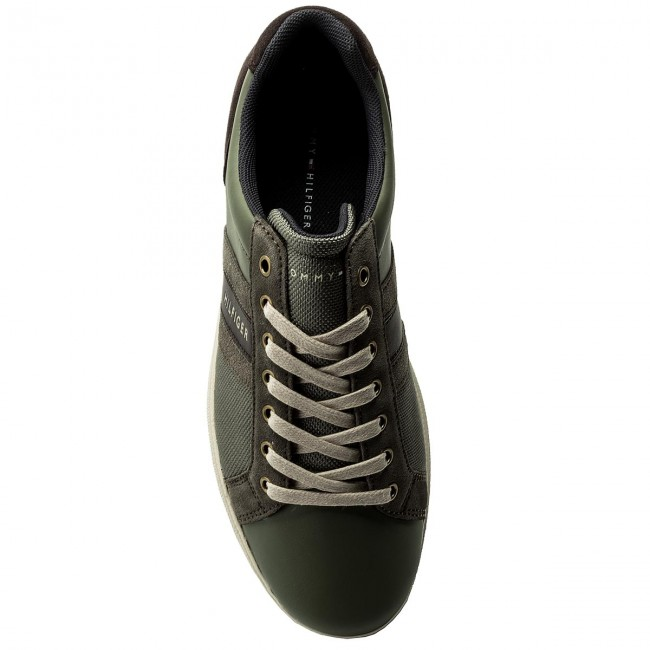Sneakers TOMMY HILFIGER-Core Dusty Material  Mix Cupsole FM0FM01479 Dusty HILFIGER-Core Olive 011 ba321f