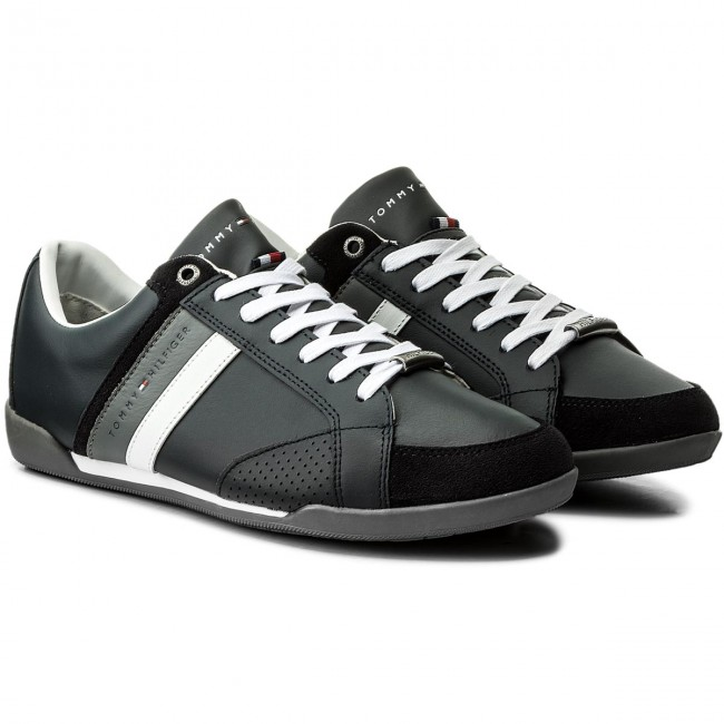 Sneakers TOMMY Cupsole HILFIGER-Corporate Material Mix Cupsole TOMMY FM0FM01532 Midnight 403 5e39cd