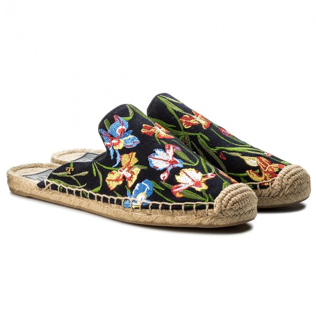 Espadrilles TORY BURCH                                                      Max EmbrioideROT Espadrille Slide 46913 Perfect Nany/Painted Iris 449 02a61d
