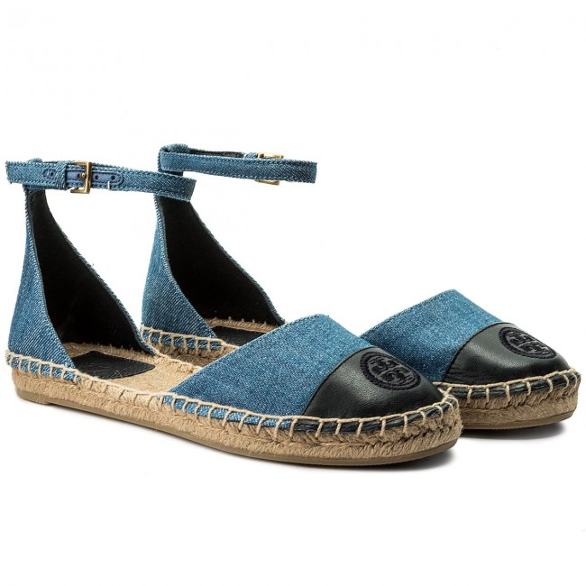 Espadrilles TORY BURCH Color Color BURCH Block Ankle-Strap Espadrille 46769 Denim Chambray/Perfect Navy 435 c10537