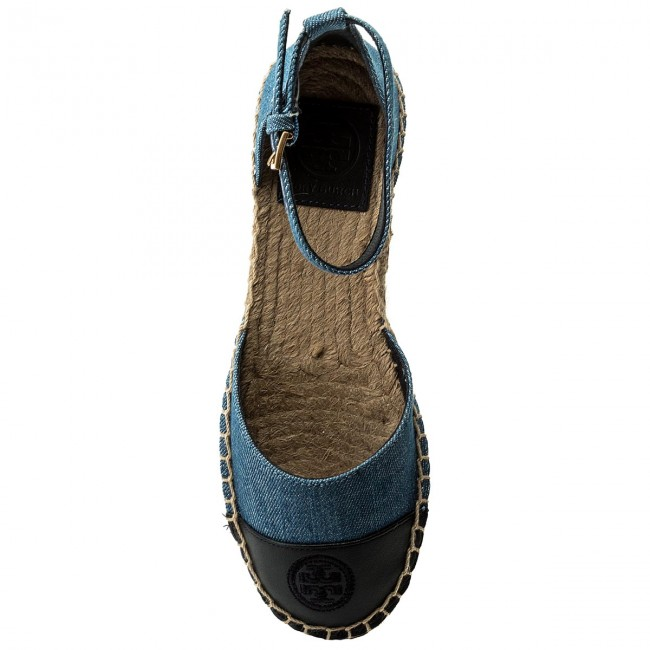 Espadrilles  TORY BURCH    Espadrilles                                                 Farbe Block Ankle-Strap Espadrille 46769 Denim Chambray/Perfect Navy 435 248852