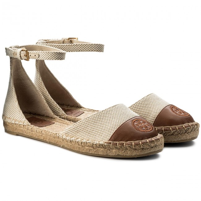 Espadrilles TORY BURCH                                                      Color Block Ankle-Strap Espadrille 47027 Perfect Sand/Perfect Cuoio 241 7966f4