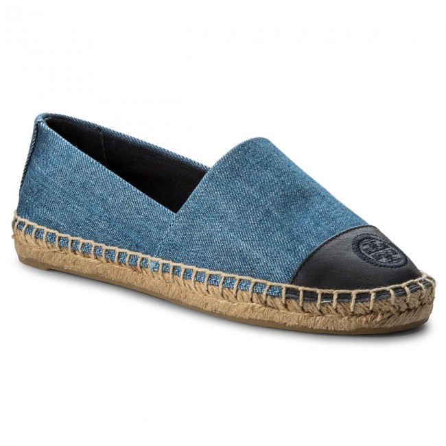 Espadrilles TORY BURCH Color Block Flat Espadrille 46767 Denim Chambray/Perfect Navy 435