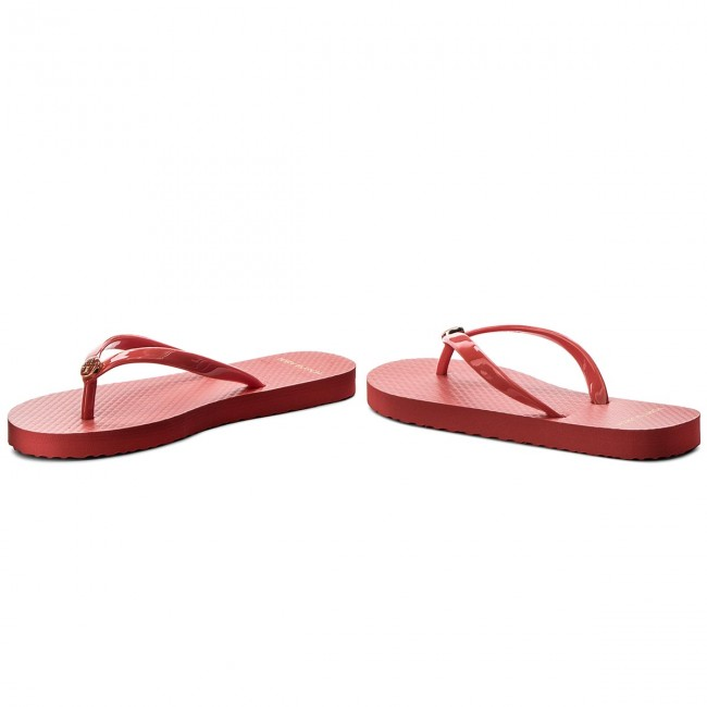 Zehentrenner TORY BURCH                                                    Solid Thin Flip Flop 47405 Poppy Orange 802