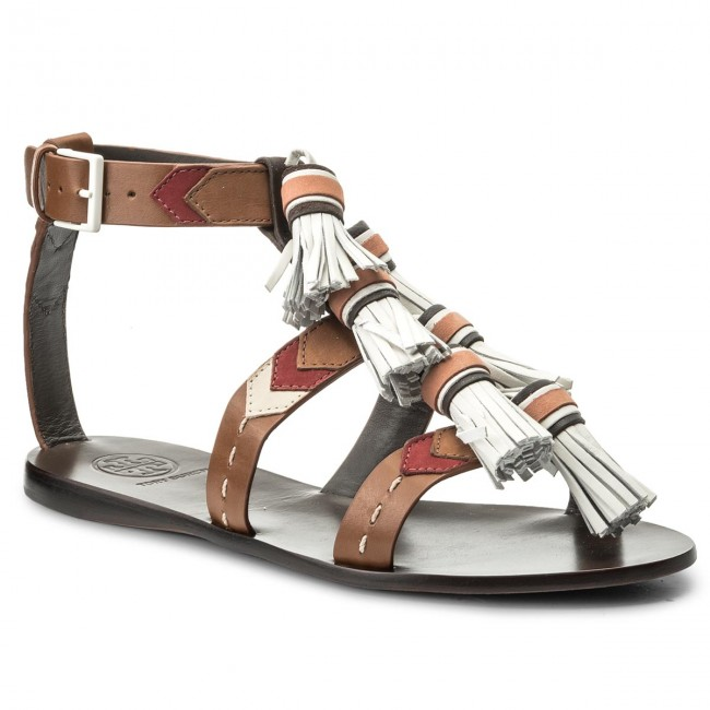 Sandalen TORY BURCH Weaver Tassel Sandal 51158685 Multi Tan/Light Almond 242
