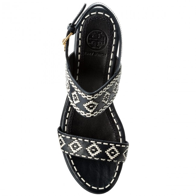 Sandalen TORY BURCH                                                      Blake 80mm Ankle 46613 Perfect Navy/Perfect Ivory 444 cc67d5