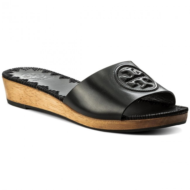 Pantoletten TORY BURCH-Patty 46620 Perfect Black 006 Werbe Werbe Werbe Schuhe e88d15