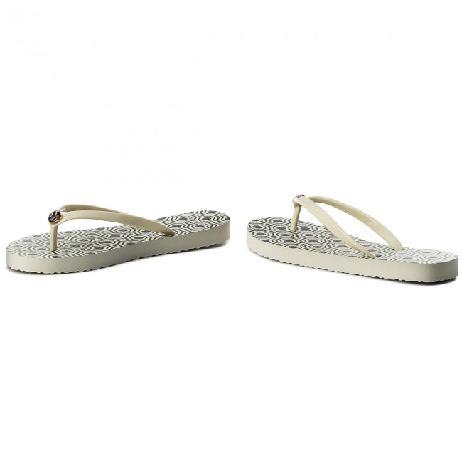 Zehentrenner TORY BURCH                                                      Thin Flip Flop 37149 Perfect Ivory/Octagon Sq 116 d0d342