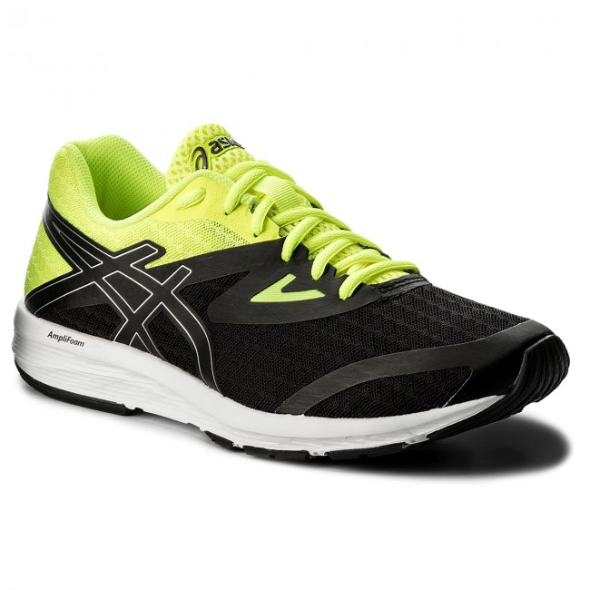 Schuhe ASICS-Amplica T825N Black/Silver/Safety Yellow 9093