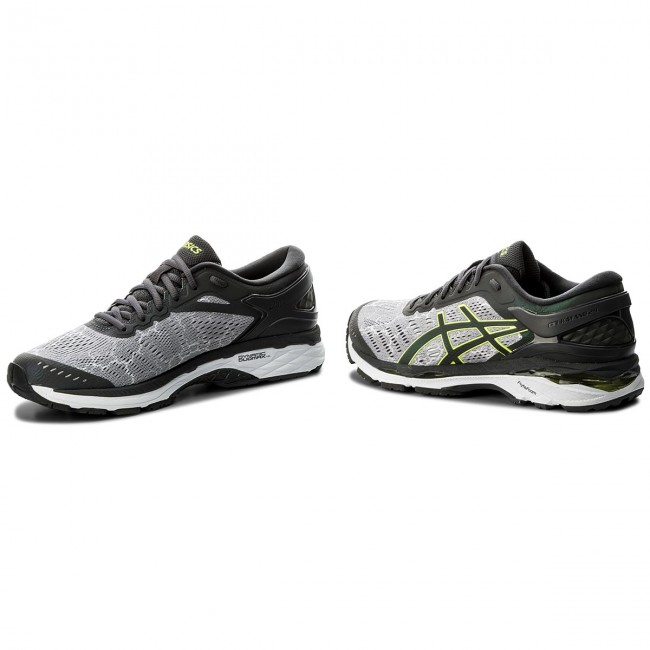 Schuhe ASICS-Gel-Kayano Grau/Dark 24 Lite-Show T8A4N Mid Grau/Dark ASICS-Gel-Kayano Grau/Safety Yellow 9695 03bbdc