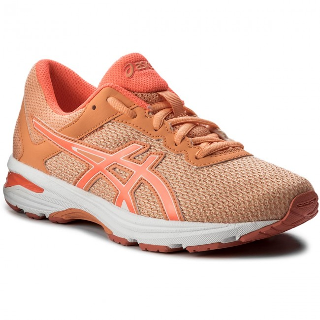 Schuhe ASICS GT-1000 6 Gs C740N Apricot Ice/Flash Coral/Canteloupe 9506