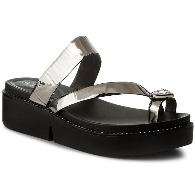 Pantoletten SCA'VIOLA - F-44 Black Leather gGrKoi