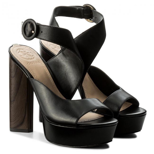 Sandalen GUESS                                                      Makenna FLMKN2 LEA03 BLACK 2a0db5