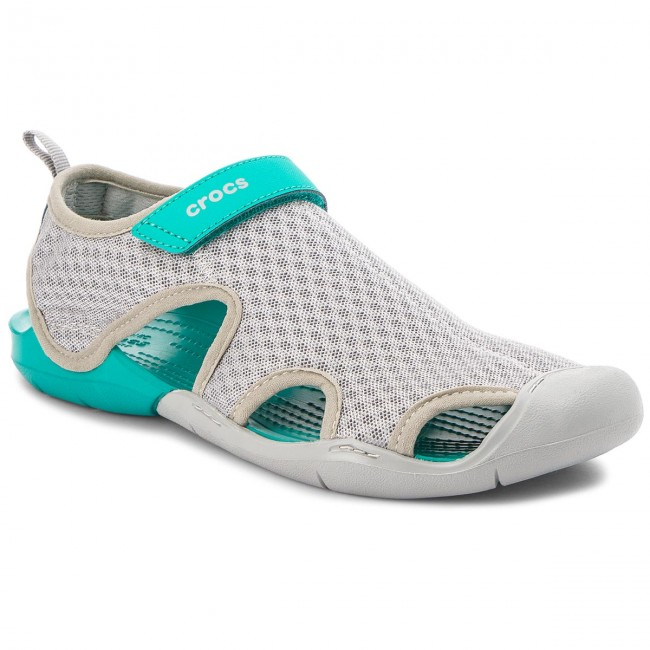 Sandalen CROCS                                                      Swiftwater Mesh Sandale W 204597   Light Grau d030ca