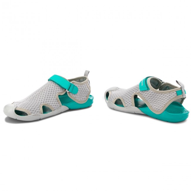 Sandalen CROCS                                                      Swiftwater Mesh Sandale W 204597   Light Grau ac8dc4
