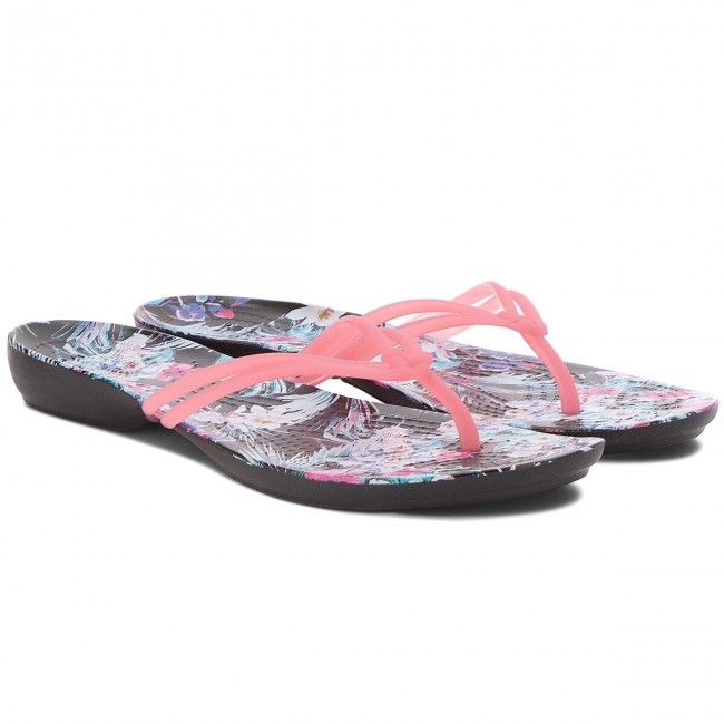 Zehentrenner CROCS - Isabella Graphic Flip W 204196 Paradise Pink/Tropical Floral 3xYdnnnK