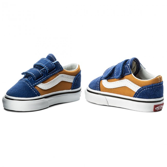Halbschuhe VANS - Old Skool V VN0A344KQ1B (Pop) Og Blue/Og Gold