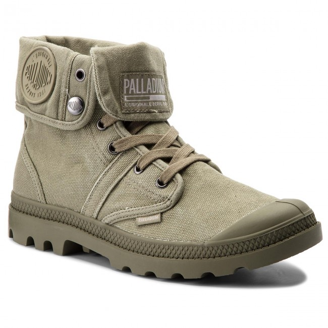Trapperschuhe Olive PALLADIUM-Pallabrouse Baggy 02478-342-M Vetiver/Burnt Olive Trapperschuhe e05776