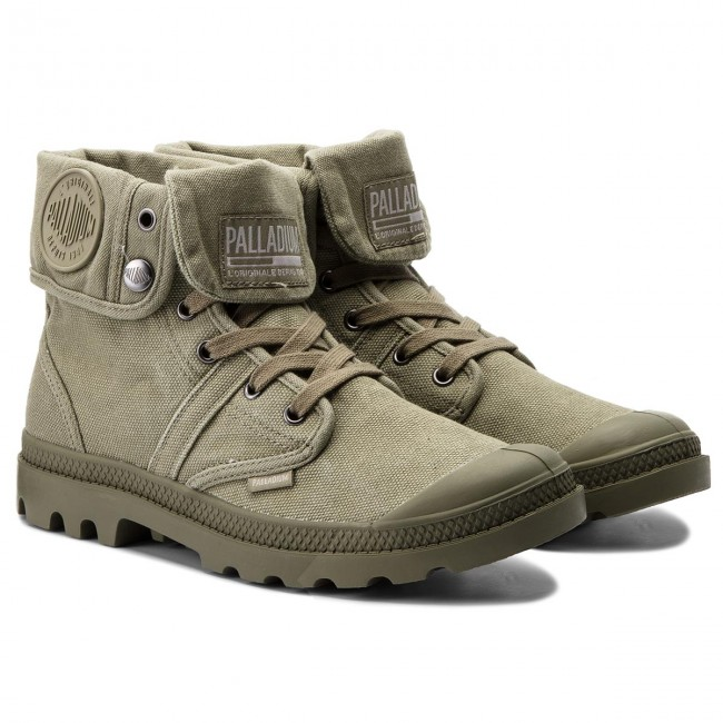 Trapperschuhe Olive PALLADIUM-Pallabrouse Baggy 02478-342-M Vetiver/Burnt Olive Trapperschuhe e4983a