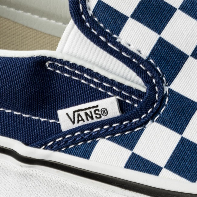 Turnschuhe VANS                                                      Classic Slip-On VN0A38f7QCN (Checkerboard) Estate Blu aedd25