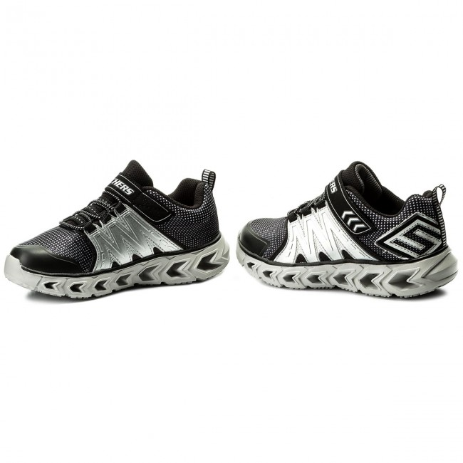 Halbschuhe SKECHERS - Hypno-Flash 2.0 90585L/BKSL Black/Silver