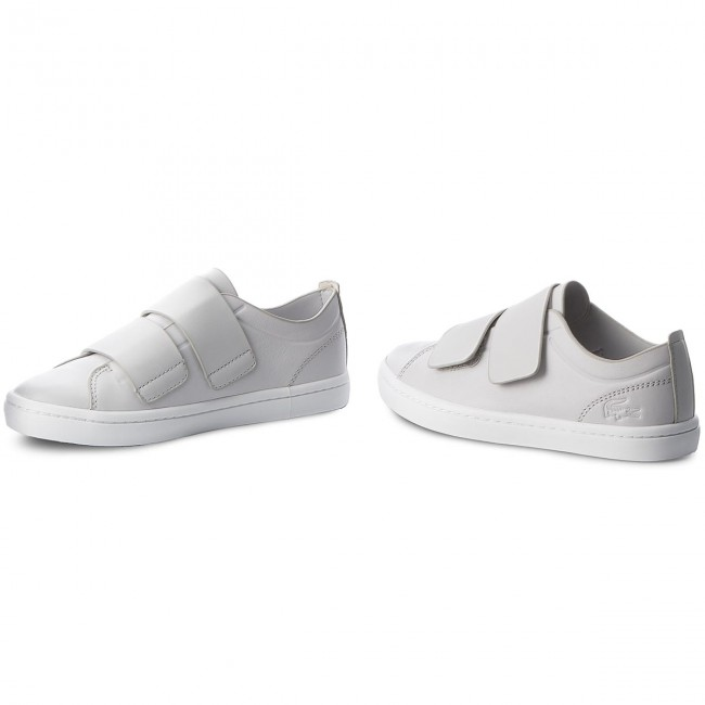 Sneakers LACOSTE-Straightset Strap 118 1 Caw 7-35CAW00712Q5 Lt Gry/Wht Werbe Schuhe
