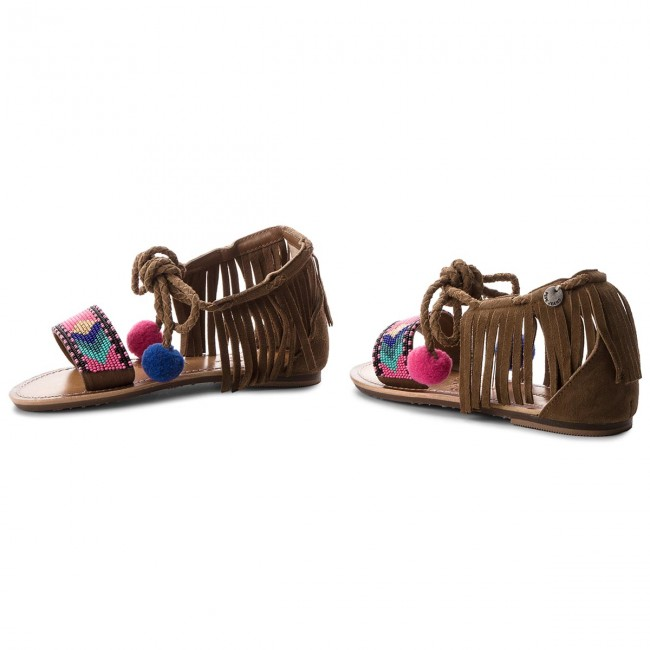 Sandalen PEPE JEANS                                                      Maya Fringes PGS90102 Mud 865 a7290d