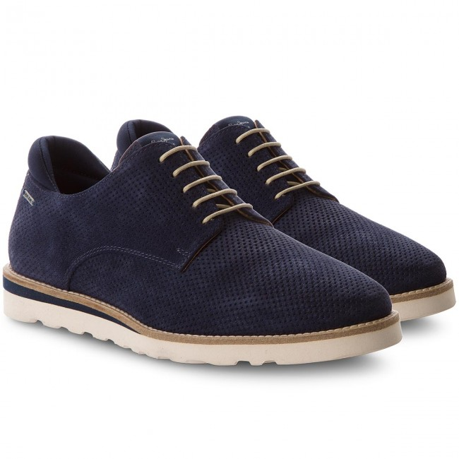 Halbschuhe PEPE JEANS-Barley Perforation Navy PMS10218 Navy Perforation 595 6f10c9