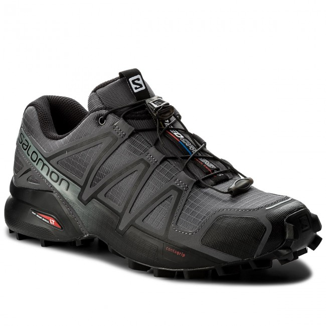 Schuhe SALOMON-Speedcross V0 4 392253 27 V0 SALOMON-Speedcross Dark Cloud/schwarz/Pearl Grau f84a21