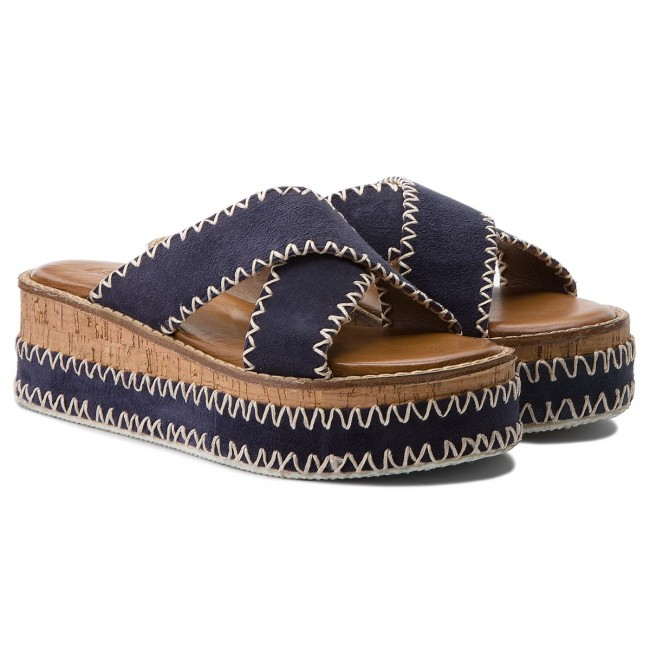 Pantoletten INUOVO                                                      8162 Navy 0646cd