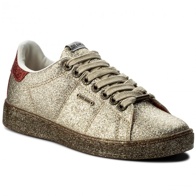 Sneakers PEPE  JEANS     PEPE                                                Brompton Part PLS30666 Gold 099 a9cf15