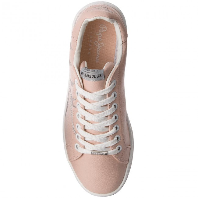 Sneakers PEPE JEANS       JEANS                                               Brompton Embroidery PLS30671 Mauve Pink 319 12da56