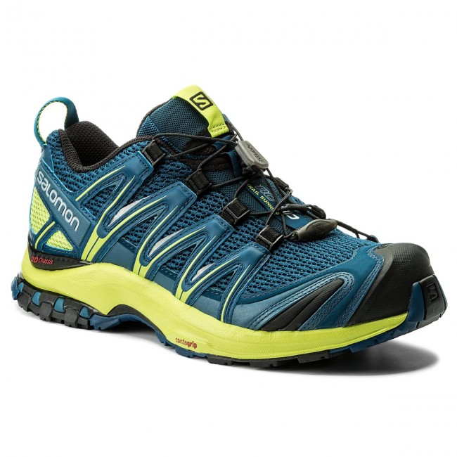 Schuhe SALOMON-Xa Poseidon/Lime Pro 3D 400798 27 V0 Poseidon/Lime SALOMON-Xa Green/Black 29e49e