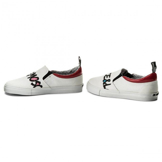 Turnschuhe LOVE MOSCHINO JA15453G05JE110C Canv Bia/Vern Bia/Vern Canv Rsso 06dc1d