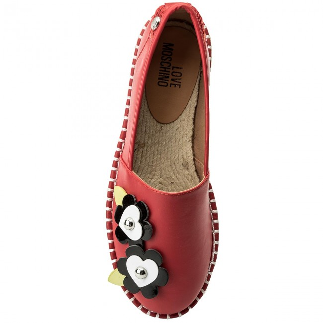 Espadrilles LOVE Rosso MOSCHINO  JA10203G05JA050A  Rosso LOVE 613613