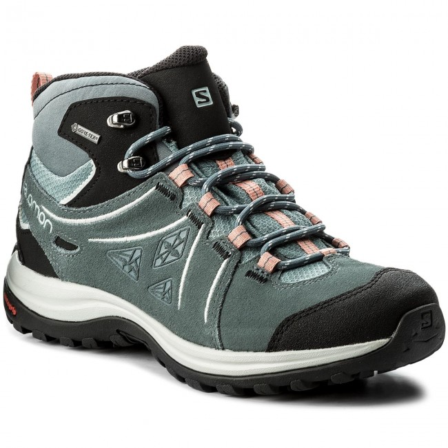 Trekkingschuhe SALOMON                                                    Ellipse 2 Mid Ltr Gtx GORE-TEX W 401626 20 V0 Lead/Stormy Weather/Coral Almond